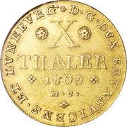 10 Thaler - Karl Wilhelm Ferdinand – revers
