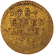 1/48 thaler Karl I. – revers