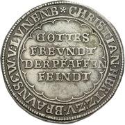 1 thaler Christian de Halberstadt – avers
