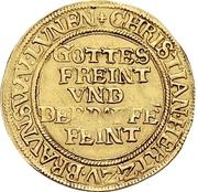 1 Ducat - Christian, Bischof von Halberstadt (Pfaffenfeinddukat) – avers