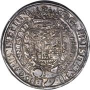 1 Thaler - Christian, Bischof von Halberstadt (Décès) – avers
