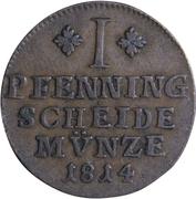 1 pfenning - Friedrich Wilhelm – revers