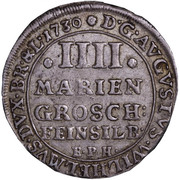 4 mariengroschen August Wilhelm – avers