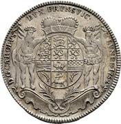 1 thaler Karl I. – avers