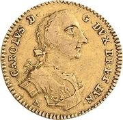 2½ thaler Karl I – avers