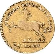 2½ thaler Karl I – revers