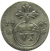 6 pfennige Karl I – revers