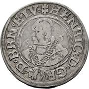 ¼ thaler Heinrich der Jüngere – avers
