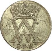 1 Mariengroschen - August Wilhelm – avers