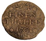 1/24 thaler Karl I – revers
