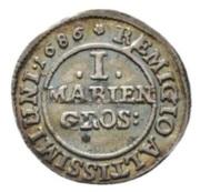 1 mariengroschen Rudolf August et Anton Ulrich – revers
