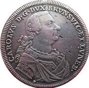 1 thaler Karl 1er – avers