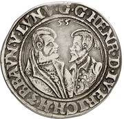 ½ Thaler - Heinrich the younger and Erich the younger – avers