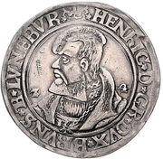 1 Thaler - Heinrich the younger – avers