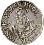 ½ Thaler - Heinrich the younger – avers