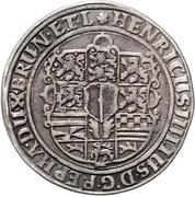 ¼ Thaler - Heinrich Julius (1/4 Ausbeutetaler) – avers
