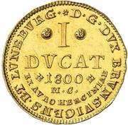 1 ducat Karl Wilhelm Ferdinand – revers