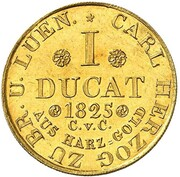 1 ducat Karl II – revers