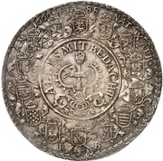 1½ thaler August II (88ème anniversaire de August II) – revers