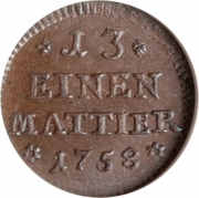 1 Denier / 1/13 Mattier - Karl I – revers