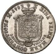 1 thaler Karl Wilhelm Ferdinand – revers