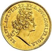 1 ducat Anton Ulrich (Mort de Elisabeth Juliane de Holstein-Norburg) – avers