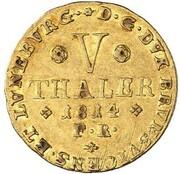5 thaler Friedrich Wilhelm – revers