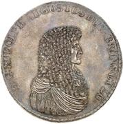 6 thaler Rudolf August – avers