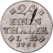 1/24 thaler - Karl I – revers