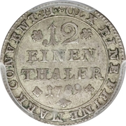 1/12 thaler - Karl Wilhelm Ferdinand – revers