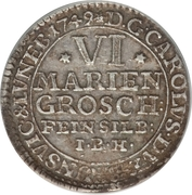 6 Mariengroschen - Karl I – avers