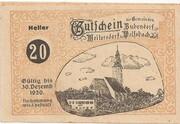 20 Heller (Bubendorf, Meilersdorf, Wolfsbach) -  avers