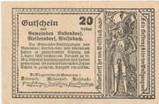 20 Heller (Bubendorf, Meilersdorf, Wolfsbach) -  revers