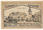 50 Heller (Buchkirchen) – avers