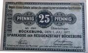 25 PFENNIG  ( BUCKENBURG ) – avers