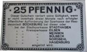 25 PFENNIG  ( BUCKENBURG ) – revers