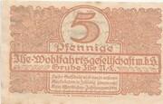 5 Pfennig (Grube Ilse - Ilse-Wohlfahrtsgesellschaft m.b.H.) – revers