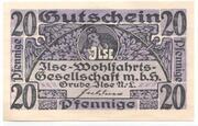 20 Pfennige (Grube) – avers