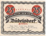 25 Pfennig (Büdelsdorf) – avers