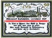 50 Pfennig (Büdelsdorf) – revers