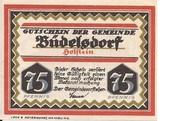 75 Pfennig (Büdelsdorf) – avers