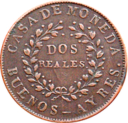 2 reales (Buenos Aires) – avers