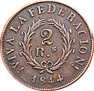 2 reales (Buenos Aires) – revers