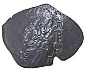 Trachy (Imitating trachy of  Isaac II Angelos) – avers