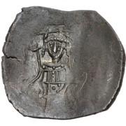 Trachy - Petar IV / Ivan I Asen (Imitating BI aspron trachy of Isaac II Angelus) – revers