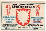 25 Pfennig (Bullenkuhlen) – avers