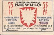 75 Pfennig (Bullenkuhlen) – avers