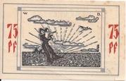 75 Pfennig (Bullenkuhlen) – revers