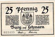 25 Pfennig (Burg auf Fehmarn) – avers