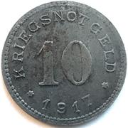 10 pfennig - Burg auf Fehmarn – revers